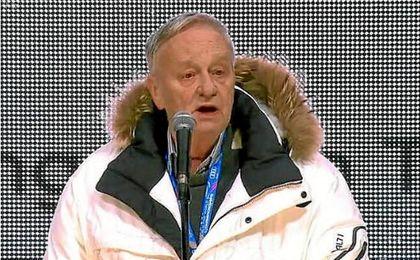 El presidente de la Federación Internacional de Esquí, Gian-Franco Kasper.