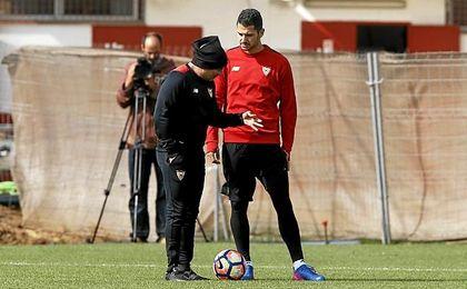 Vitolo confía en sacar algo del Calderón.