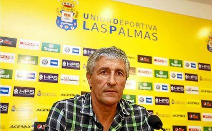 Quique Setién no renovará con la UD Las Palmas