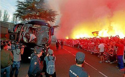Más de 700 policías velarán por la seguridad en el Atlético-Sevilla