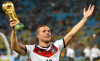 último partido de Podolski con Alemania.