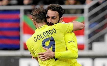 El Villarreal espera recuperar a Soldado y Adrián tras el parón