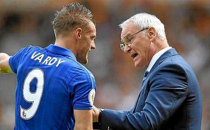 Vardy recibe amenazas de muerte por el despido de Ranieri