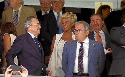 Sabalza, en el palco del Santiago Bernabéu.