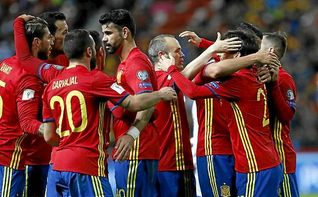 4-1. España agarra el liderato con fuerza y goles ante Israel