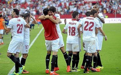 El delantero hizo el tanto de la victoria ante Las Palmas.