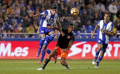 El Deportivo espera cortar su mala racha frente al Valencia