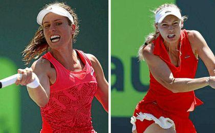 Konta y Wozniacki se enfrentarán en la final de Miami.