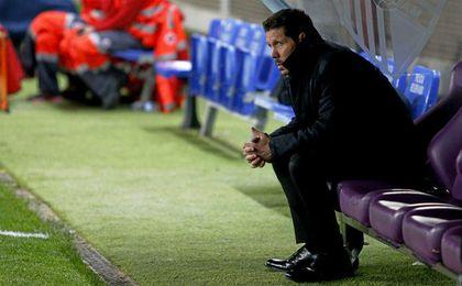 El idilio entre Simeone y el Atlético comenzó en La Rosaleda de Málaga.