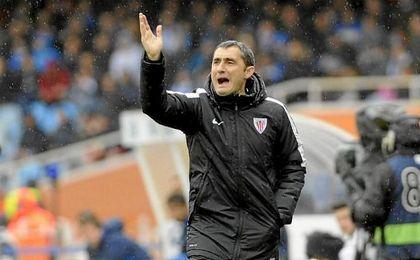 Valverde entrenando al Athletic