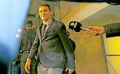 Navas, en una visita a Sevilla con el City.