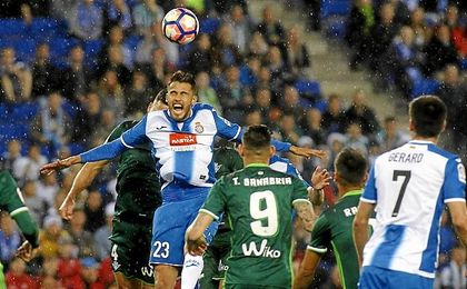 Sanabria fue un incordio para la defensa del Espanyol.