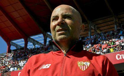 Sampaoli lamentó la falta de efectividad del Sevilla.