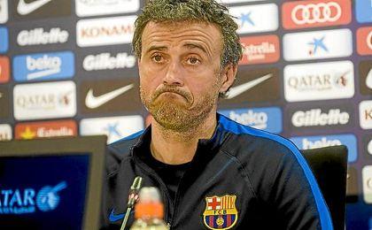 Luis Enrique no se fía del Sevilla.