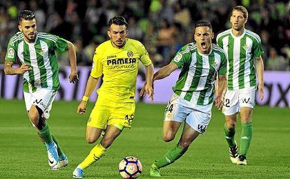 Bruno, en el partido frente al Villarreal.