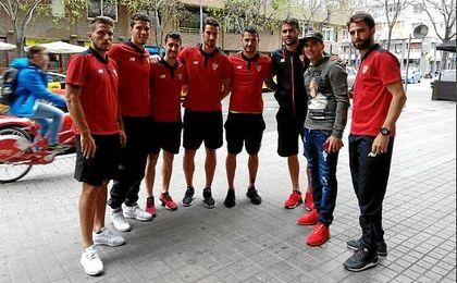 El Sevilla recibe una visita muy especial
