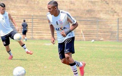 Caio, en un entrenamiento con el Corinthians.