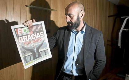 """Monchi, con la portada de ED tras la final de Varsovia: """"Gracias por tanto""""."""