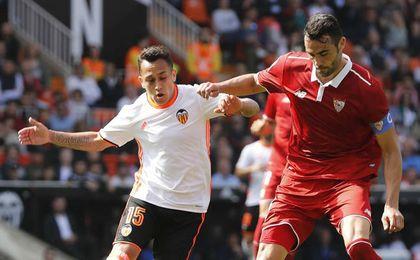 Crónica al descanso: Jovetic tuvo el 0-1 y Mariano y Rico evitaron el 1-0