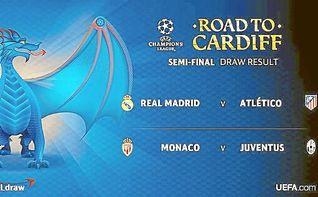 Real Madrid-Atlético y Mónaco-Juventus, semifinales de la Liga de Campeones