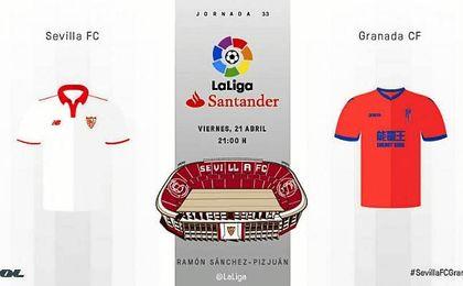 Sevilla F.C.-Granada: Síguelo en directo.