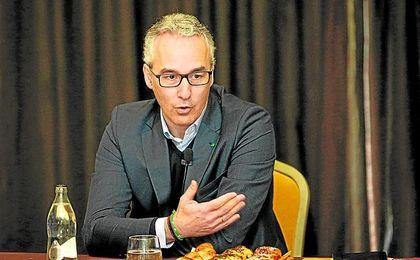 Miguel Torrecilla, durante un acto con los medios de comunicación.