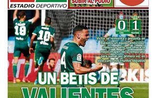 La portada de ESTADIO Deportivo de este lunes