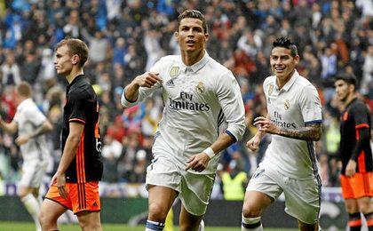 Cristiano adelantó al Madrid en la primera parte.