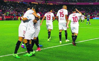 El Sevilla volvió a tirar de su banquillo para doblegar al Celta con un gol fabricado por Nasri y Ben Yedder, que comenzaron como suplentes.