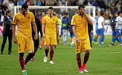 El Sevilla salió frustrado de Málaga.