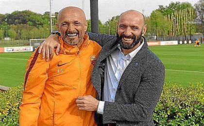 Monchi, junto a Spalletti, al que convencerá para que siga.