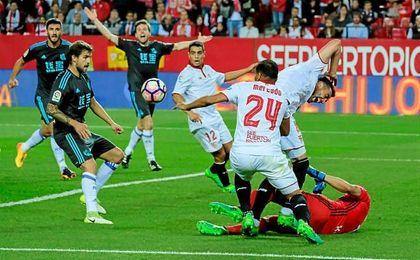 Al Sevilla le volvió a faltar clarividencia ante la portería rival.