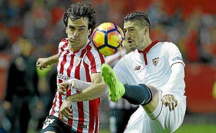 El 1-0 en Nervión fue insuficiente para ganar el ´gol average´ particular al Athletic.