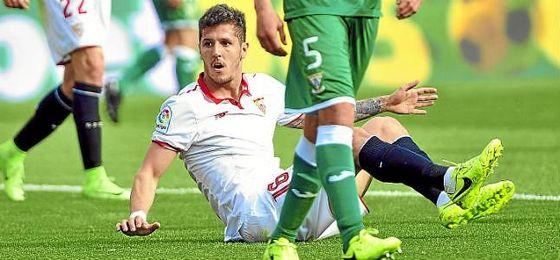Jovetic, en el partido ante el Leganés en el Sánchez-Pizjuán.