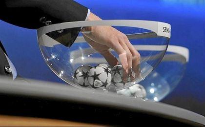 Imagen de unos de los sorteos de la Champions League.