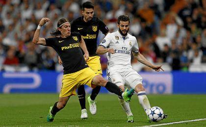 En la imagen, lance del partido de ida en el Bernabéu.