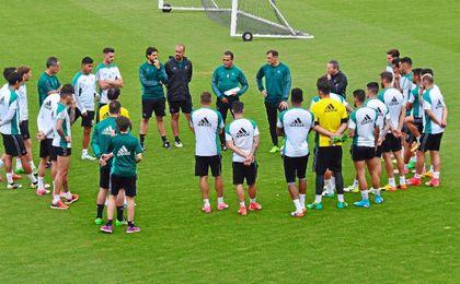 Primer entrenamiento de Alexis.