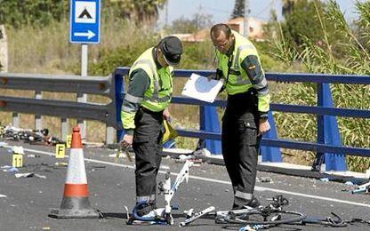 Fallece otro ciclista.