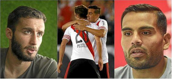 Mercado y Pezzella fueron compañeros en River Plate.