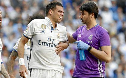 Pepe se lesionó contra el Atlético y no se despedirá sobre el césped.