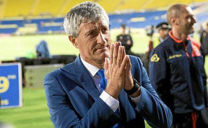 Setién se despidió ayer de Las Palmas.