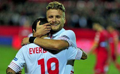 Immobile marcó cuatro goles con el Sevilla.