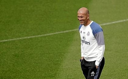 Zidane, en un entrenamiento.
