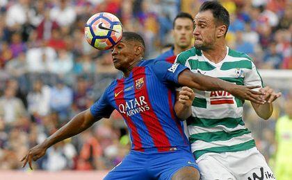 Marlon ha jugado dos partidos con el primer equipo del Barcelona.