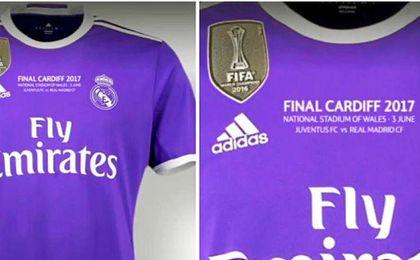La camiseta que lucirá el Madrid en Cardiff.