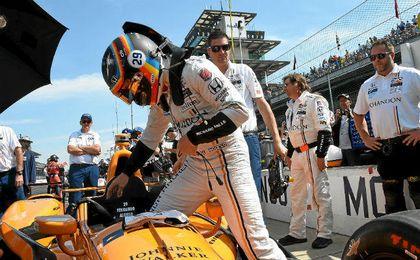 Alonso, hoy en Indianápolis.