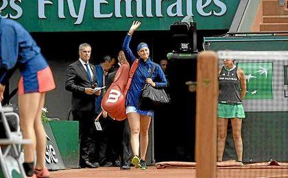 Kvitova fue recibida con una gran ovación tras seis meses sin jugar.