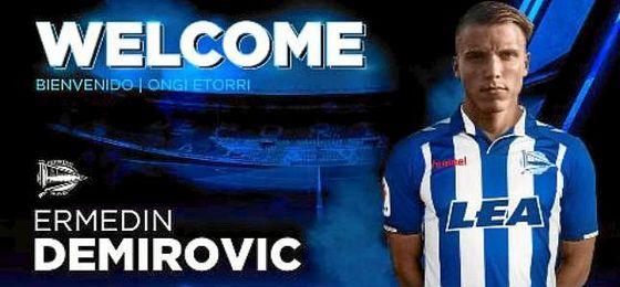 El Alavés ficha al joven delantero bosnio Ermedin Demirovic.