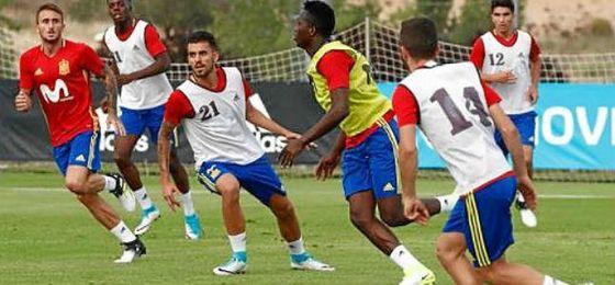 Ceballos ya se encuentra con la selección sub 21.