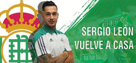 Sergio León vuelve a casa, anuncia el Betis.